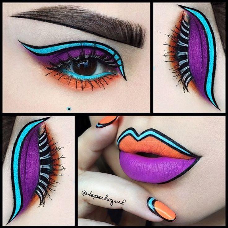 Best Ideas For Makeup Tutorials : Super cool and creative pop art ...