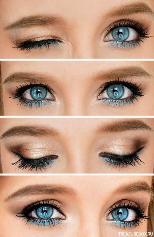 Makeup Ideas For Baby Blue Dress