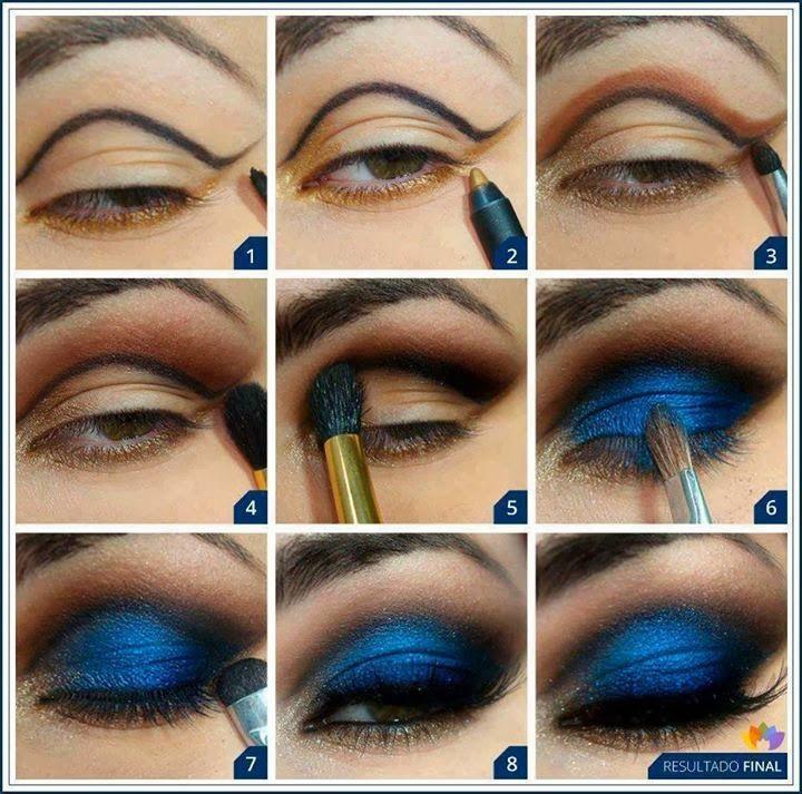 Best Ideas For Makeup Tutorials Deep Blue Eye Shadow Tutorial