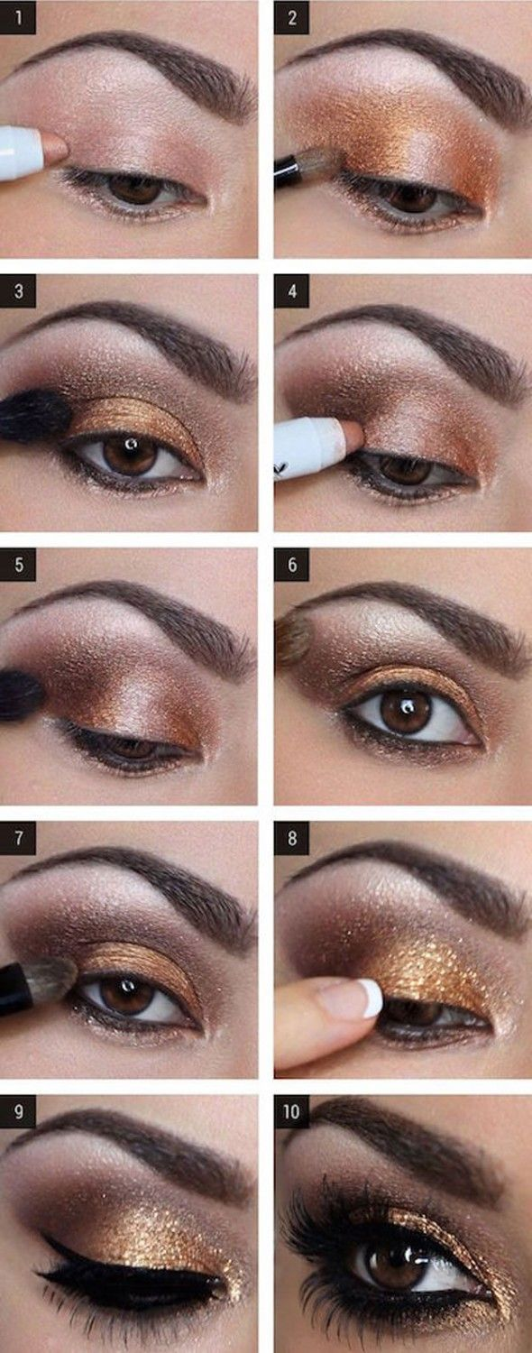 Best Ideas For Makeup Tutorials Glam Gold Eyeshadow Tutorial For