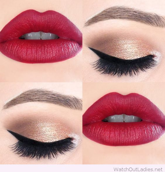 Best Ideas For Makeup Tutorials Gold And Black Eye Makeup With Hot