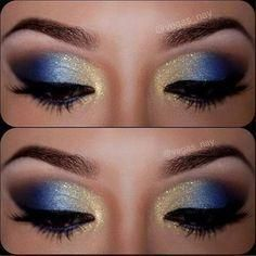 Best Ideas For Makeup Tutorials 12 Gorgeous Blue And Gold Eye