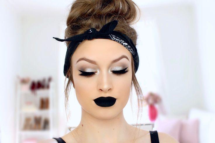 Best Ideas For Makeup Tutorials Silver Smokey Cat Eyes Black