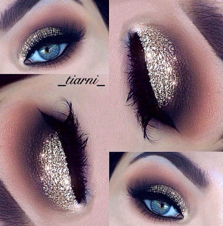 Best Ideas For Makeup Tutorials Gold Glittery Eye Makeup