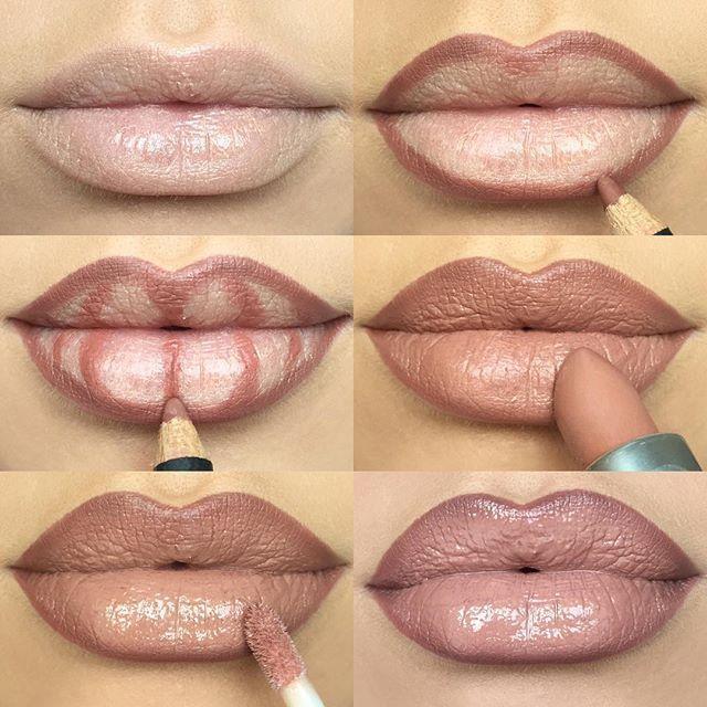 how to apply makeup to make lips look fuller � saubhaya makeup