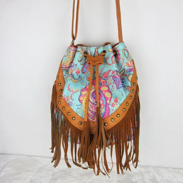 c7f9c66b64 Bags   Handbag Trends   Drawstring Bucket Bag Faux Fringe Tassel ...