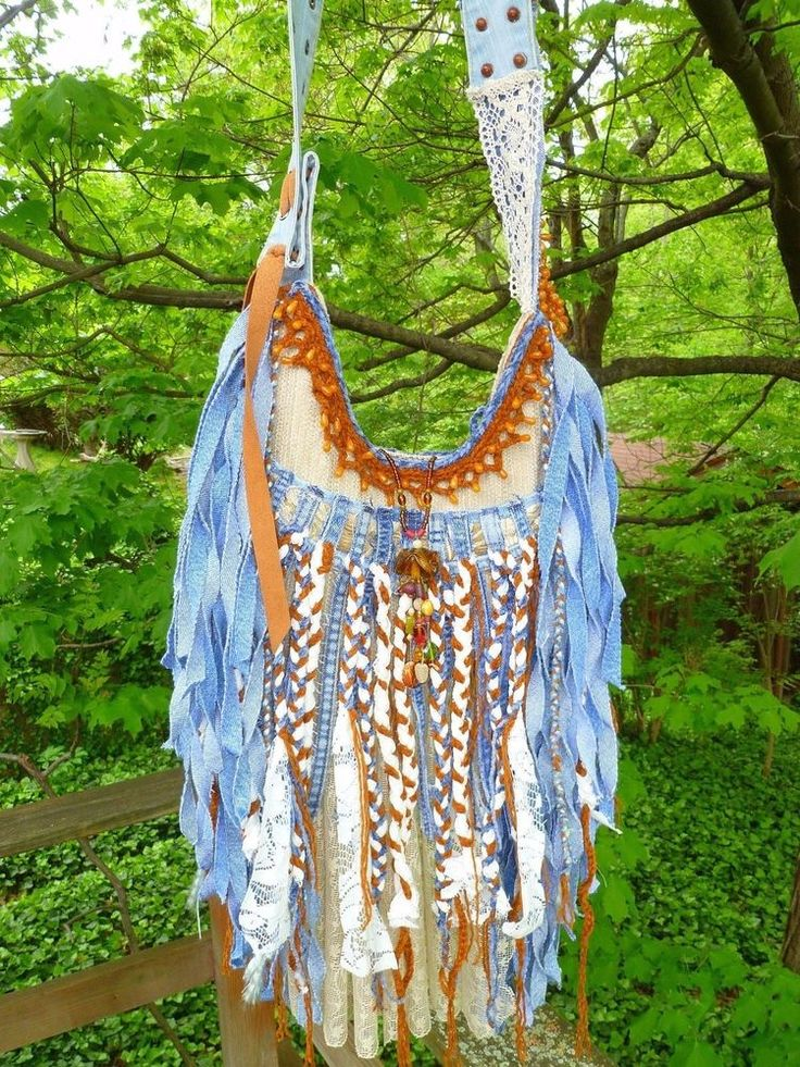 Bags Amp Handbag Trends Handmade Denim Lace Fringe Bag