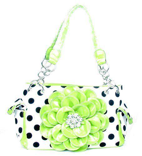 Bags   Handbag Trends   Polka Dot Metal Chain Green Rhinestone ... e77153853ec0d