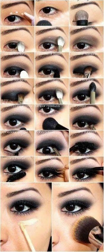 Top 10 amazing black eye makeup tutorials | make-up!! | pinterest.