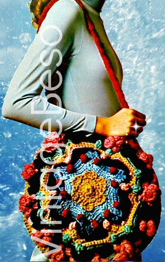 Rare 1970s Original Boho Bag With Free Gift Vintage Crochet Pattern