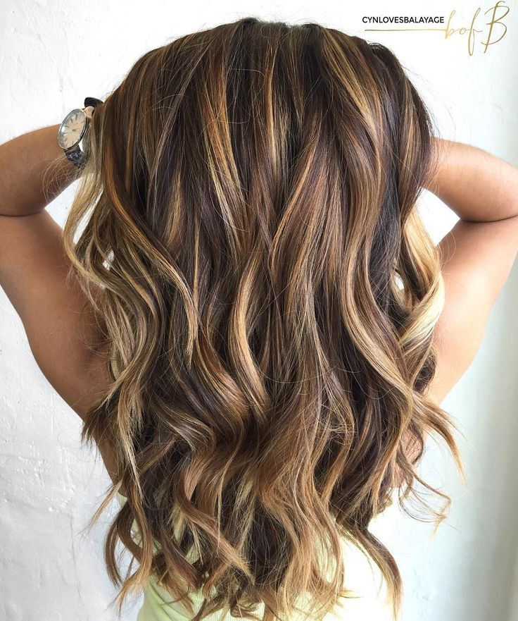 Summer Hairstyles Long Brown Hair With Caramel Highlights