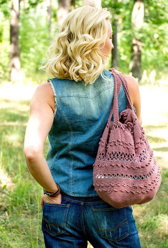 4acd533d36d8 Bags   Handbag Trends   Hand crochet tote bag Crochet purse Women ...