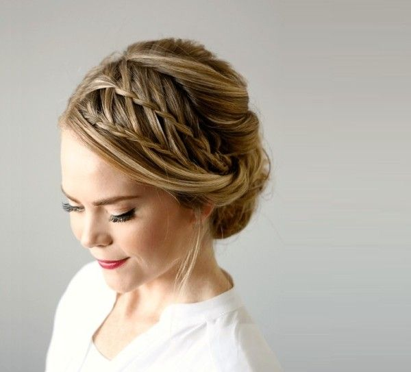 Summer Hairstyles Double Waterfall Braided Updo 101 Braid Ideas