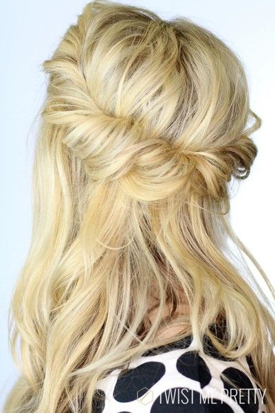 Summer Hairstyles Loosely Twisted Back The Prettiest Half Up