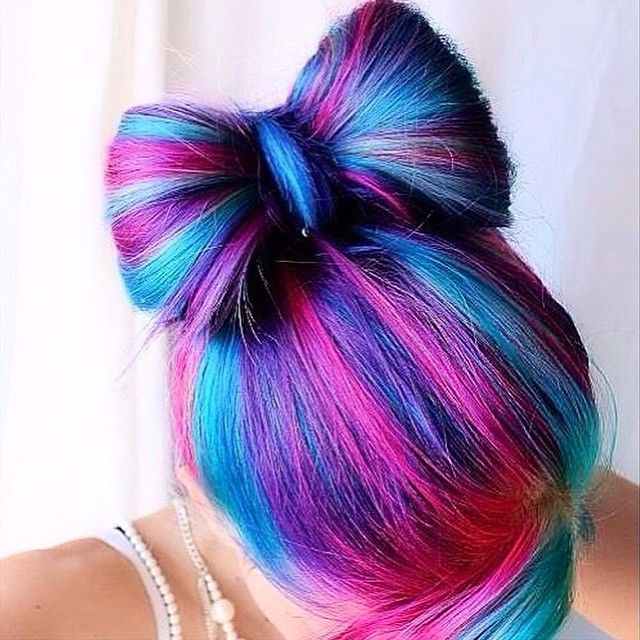 Summer Hairstyles Pink And Different Shades Of Blue And Purple