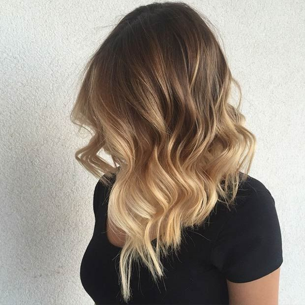 Summer Hairstyles Wavy Long Bob Blonde Balayage Flashmode