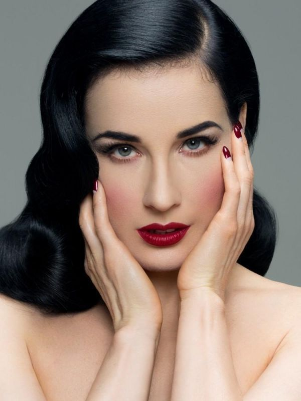 Dita von teese unveils red lip makeup tutorial   fashionisers©.