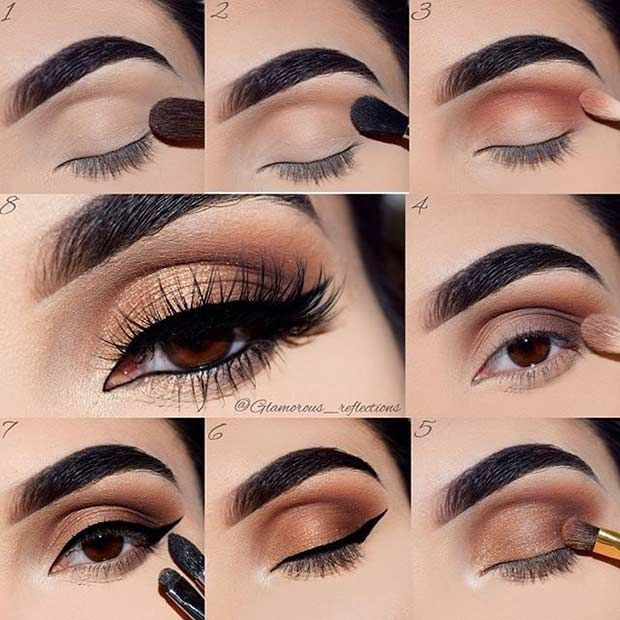 Best Ideas For Makeup Tutorials Brown And Gold Smokey Eye Tutorial