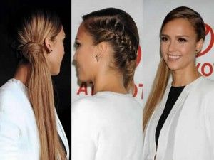 Peinados recogidos medio lado