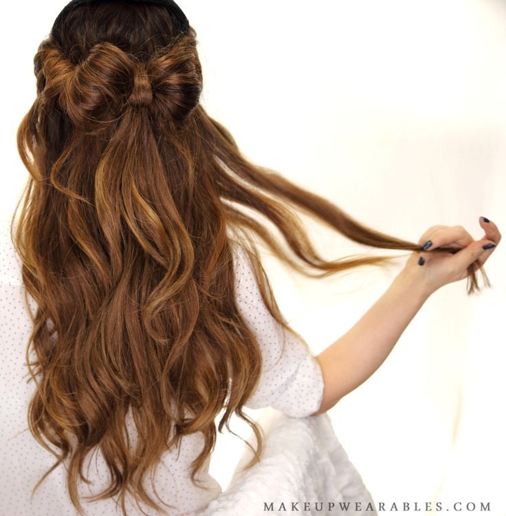 Summer Hairstyles Half Up Half Down Hair Bow Updo Hairstyle For
