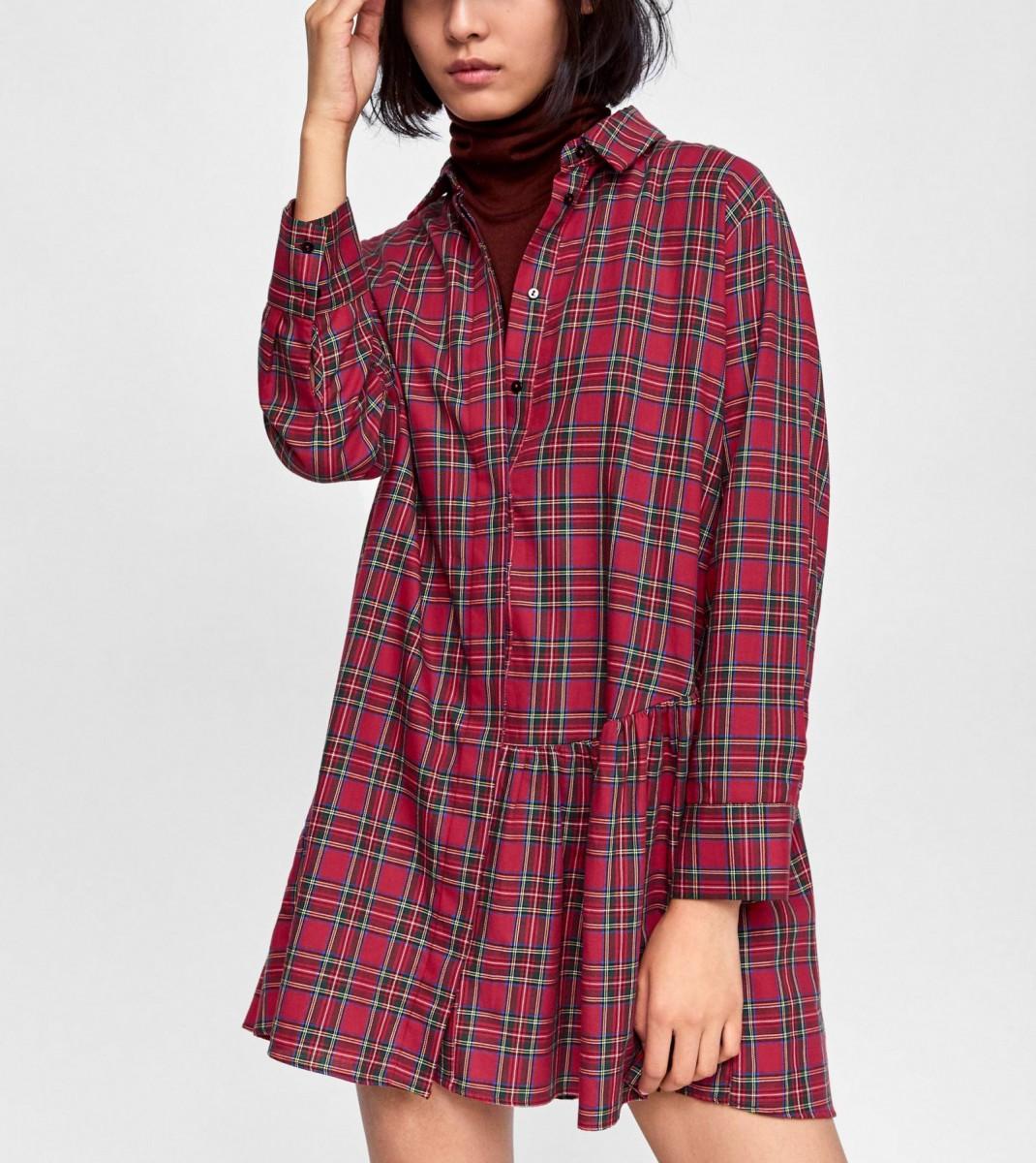 Tunique asymétrique vérifiée par Zara, au prix de 29,95 euros.