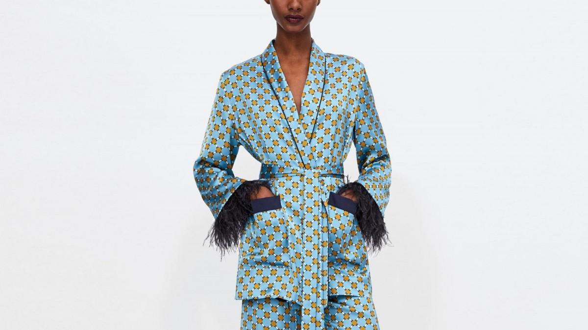 Culotte imprimée Zara à 29,95 euros.