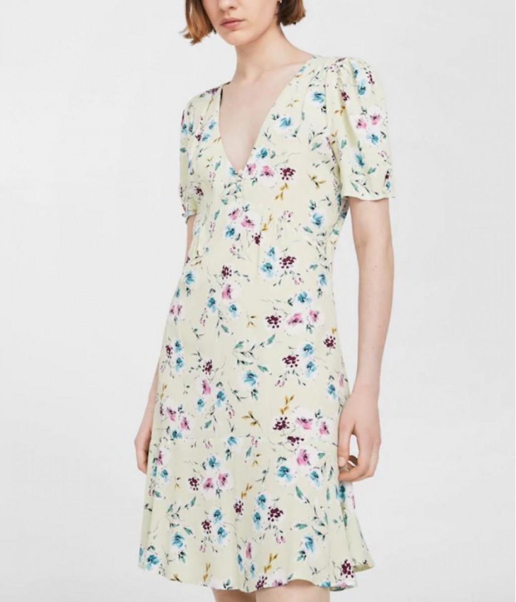 Robe design à fleurs Mango Outlet à 5 euros (avant 39,99 €)