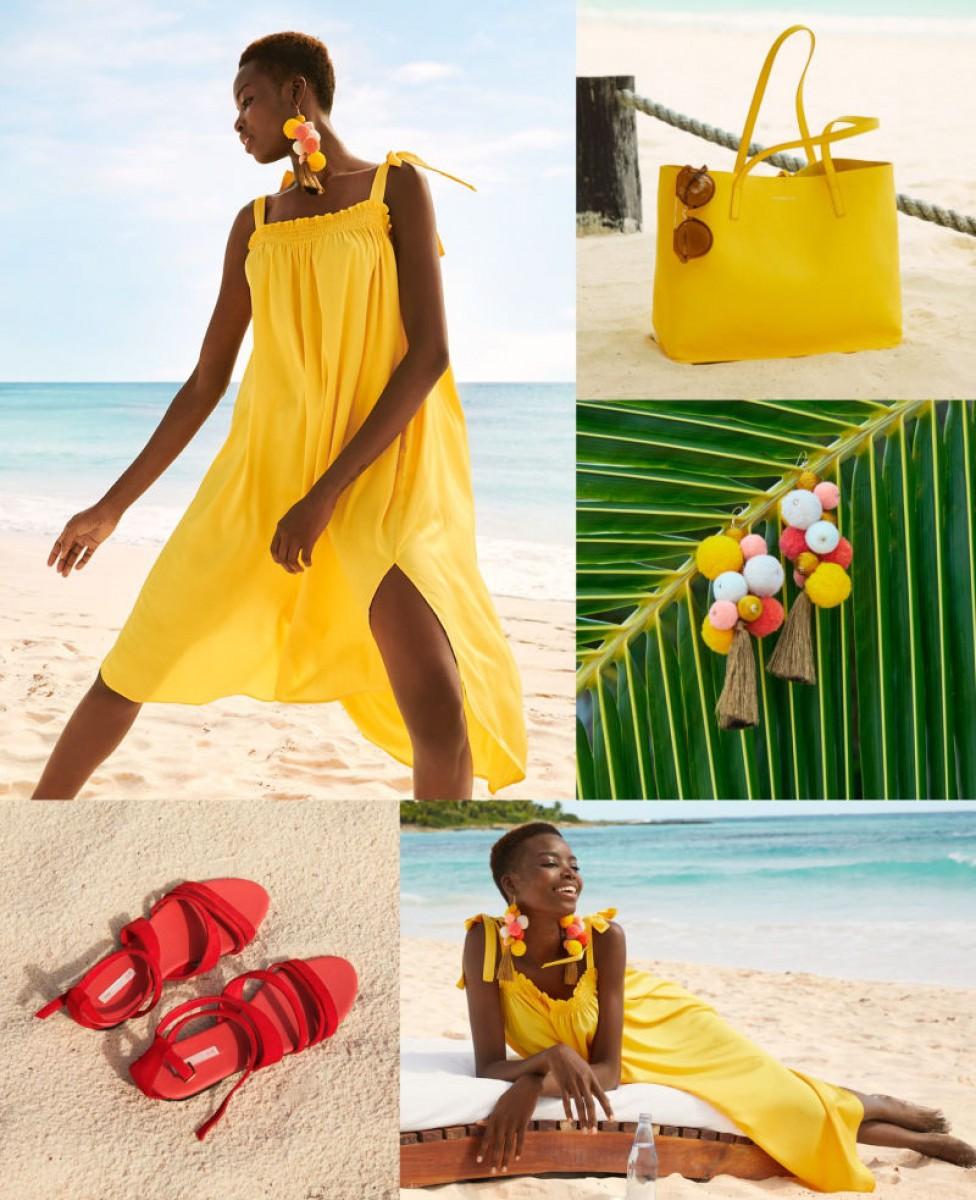 Vêtements en couleurs de la collection «Sous le soleil» de H & M