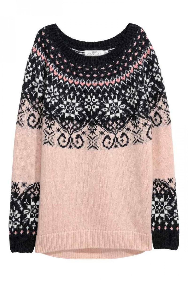 Pull jacquard en maille H & M à 39,99 euros